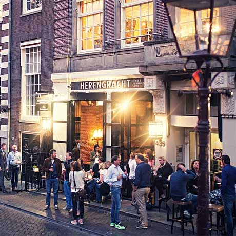 Restaurants in Amsterdam aan het water - Herengracht
