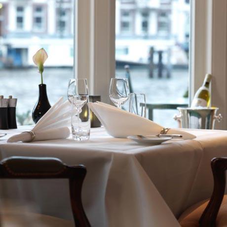 Restaurants in Amsterdam aan het water - la Rive