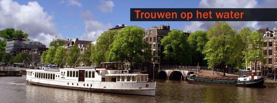 Trouwen op een boot - Trouwen op de Amsterdamse grachten - Trouwlocatie Amsterdam