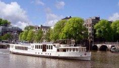 Wapen van Amsterdam historisch salonschip. Maximaal 175 personen
