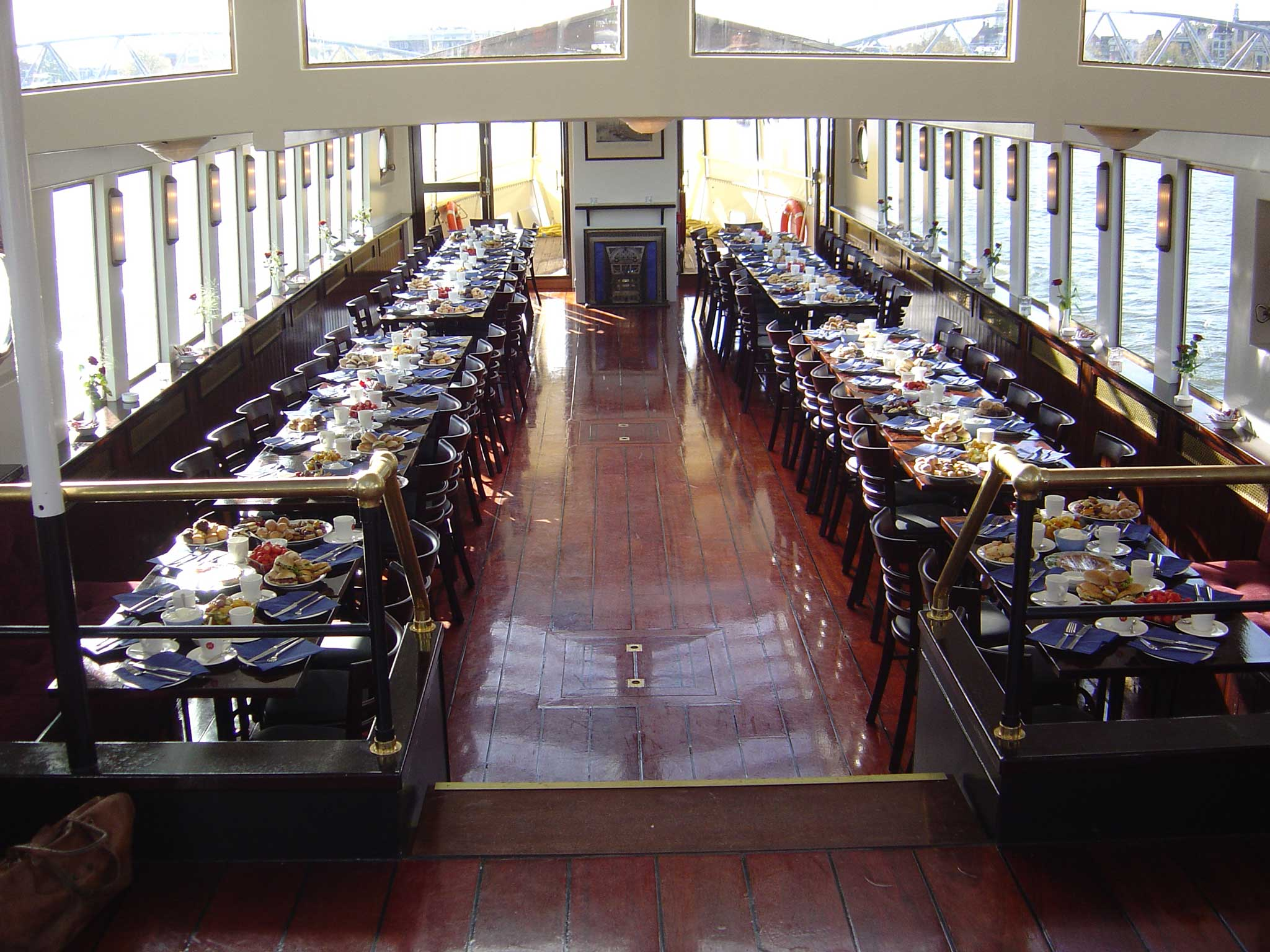 Lunchopstelling op Het Wapen van Amsterdam
